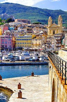 Bastia, Corsica - a French island in the Mediterranean Sea