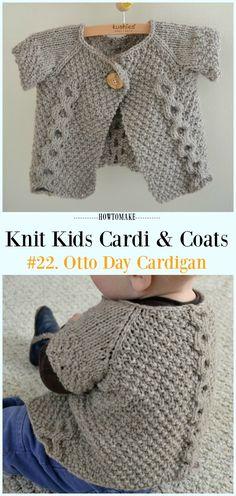 Otto Day Cardigan Free Knitting Pattern - #Knit Kids #Cardigan Sweater Free Patterns