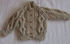 Scottish hand knitted baby Aran, £40.00