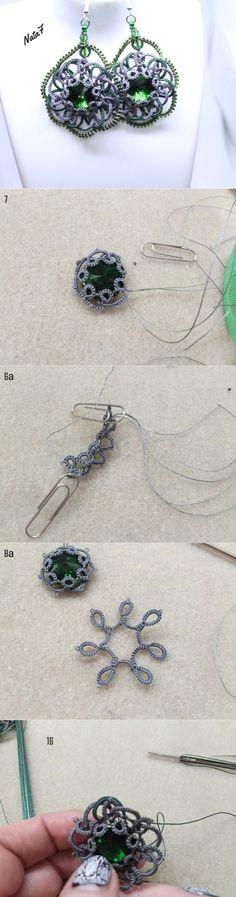 Создаем серьги «Глаз дракона» в технике фриволите - Ярмарка Мастеров - ручная работа, handmade