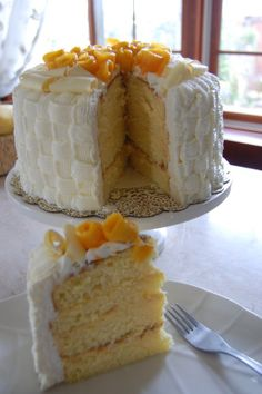 Passion Fruit Chiffon Cake With Passion Fruit Mousse And Cream Recipe - Food.com: Food.com