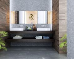 contemporary-bathroom-design-displaying-cool-tiles-wall-decor-and-double-washbasin-under-mirrored-with-recessed-medicine-cabinet-as-well-as-attractive-grey-vinyl-tiles-flooring-with-modern-bath-lighti-938x756.jpg 938×756 pixels