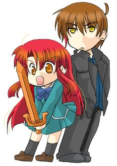 Chibi Ayano and Kazuma! So precious!