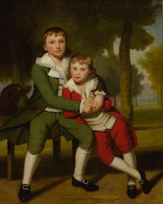Ralph Earl (1751 - 1801) Portrait of Two Brothers, 1790