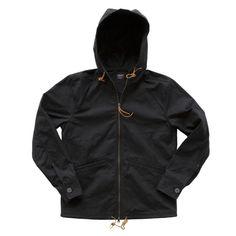 Black Gridwax Full-Zip Anorak