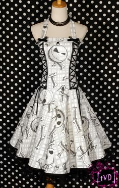 Nightmare Before Christmas Jack Heads Corset Halter Dress Diy