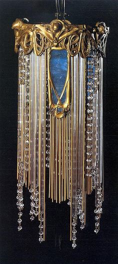 Hector Guimard's Lamp, Chandelier, 1909