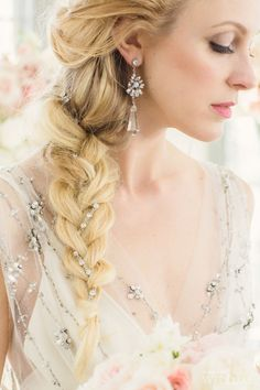 Inspired By Frozen's Queen Elsa. Wedding Hair And Makeup, Wedding Beauty, Hair Makeup, Luxury Wedding, Bridal Braids, Bridal Hair Vine, Braided Hairstyles, Wedding Hairstyles, Bridal Hairstyle