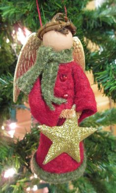 Angel Christmas Ornament Winter Angel by ModerationCorner on Etsy
