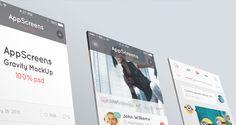 Perspective App Screens Mock-Up 7 | Psd Mock Up Templates | Pixeden
