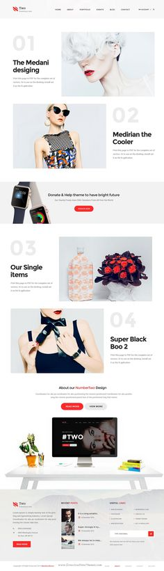 NumberTwo is stunning and intuitive #PSD Template with 7 homepage plus WooCommerce layouts for #eCommerce #website. Download Now!