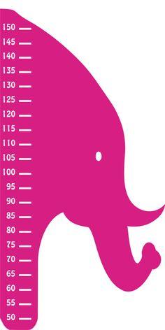 Elefante. Vinilo infantil medidor