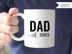 Customizable Mug for Dad // The perfect personal and meaningful Father's Day or Birthday Gift // Design by Enchanted Prints