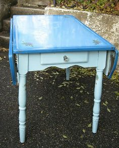 vintage kitchen tables enamel Enamel Top Kitchen Table Vintage