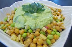 Need some fuel? Check out our power packed salad with chickpeas, apple, edamame and avocado lime dressing. Great for lunch. A definite Energy booster! Check out our website for the full recipe! www.chelseacrescent.ca #power #powerpacked #vegan #chickpea #edamame #avocado #lime #salad #lunch #cleaneats #cleanlunch #cleandinner #colourful #cleaneating #cleanfoodie #healthy #healthyeating #healthyliving #yum #yummy #easy #quickfix #delicious #energy #energyboost Clean Lunches, Clean Dinners, Avocado Lime Dressing, Edamame, Chickpeas, Guacamole, Healthy Living, Clean Eating, Salad