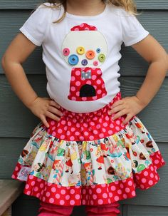 "Gumball shirt ADORABLE!! Oh my word! LOVE this! I want one in ""big girl"" size! I would wear this on a Saturday!!"