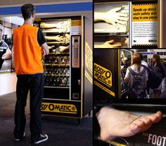 The Body-O-Matic, a Replacement Body Parts Vending Machine, installed WorkSafe Victoria to highlight the consequences of poor work safety practices