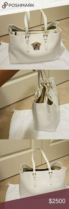 Versace bag Just sharing my beautiful new white Versace bag...i love her?????? Versace Bags