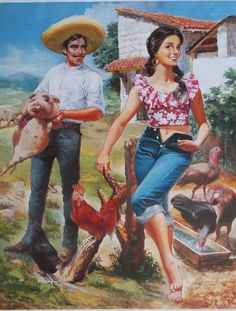 Mexican Artwork, Mexican Paintings, Mexican Folk Art, Jesus Helguera, Hispanic Art, Aztec Art, Calendar Girls, Chicano Art, Pin Up Art