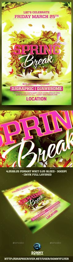 Spring Break Flyer  Font Logo Fonts And Logos