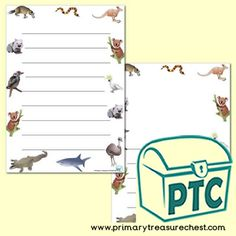 Australian Animal Themed Resources - Primary Treasure Chest Teaching Activities, Teaching Ideas, Page Borders, Australian Animals, Letter Sounds, Treasure Chest, Phonics, Crafts For Kids, Sound Art
