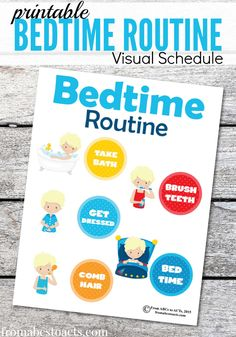 Bedtime can be a struggle, but with a consistent routine, you can make it easier on the whole family. Visual schedules are a fantastic way to keep kids on task and make the transition to bedtime a much smoother one!