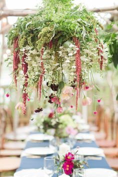 Stunning hanging florals: http://www.stylemepretty.com/vault/gallery/38313 | Photography: Katelyn James - http://katelynjames.com/