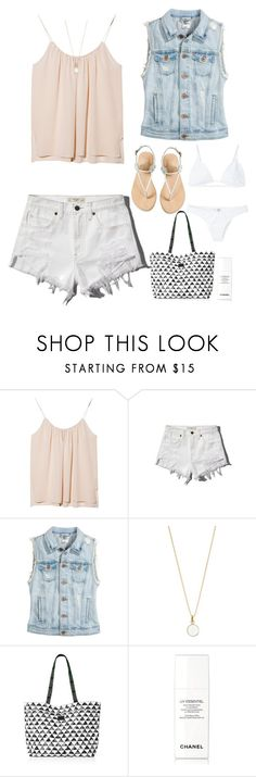 """""""Beach day"""" by dreamerdreamoftheimpossible ❤ liked on Polyvore featuring OTTE, Abercrombie & Fitch, H&M, Accessorize, Chelsea Crew, Chanel and Minimale Animale"""