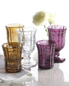 Juliska	Colette Glassware A perfect blend of beauty and function, this pressed-glass drinkware from Juliska mixes and matches well with any...