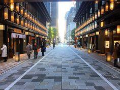 コレド室町の区画街路提灯のような照明が並んでいて江戸の街並みを感じさせる#koredo #takaracho #nihonbashi #tokyo