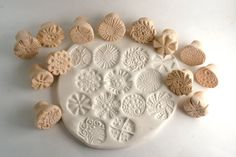 Clay Texture Stamps Gift Set Choose ONE or TWO You by GiselleNo5