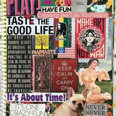 One of my art journal covers. ❤️#michelelittlefielddesigns #michelelittlefield16 #artjournal #collage
