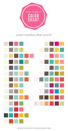 Colour palettes that