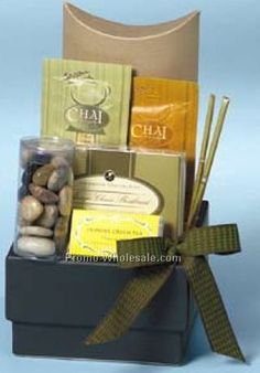 - Gourmet Chai Tea Gift Basket - Great Graduation or Teacher Appreciation Gift Idea
