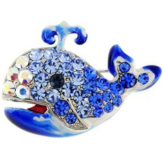 Sapphire Blue Whale Pin Animal Pin Brooch | Overstock.com Shopping - The Best Deals on Brooches & Pins