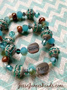 Positive Energy Beaded Bracelets, homemade DIY from Jesse James Beads
