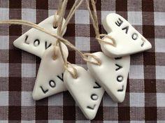Very cute mini LOVE clay gift tags £4.00