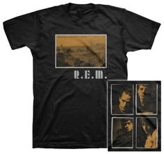 R.E.M- Postcard Throwback Design (slim fit) T-shirts at AllPosters.com