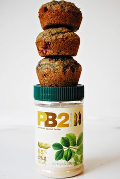 Low Calorie PB Muffins. I love this product: PB2. It's a reconstituted peanut butter alternative.