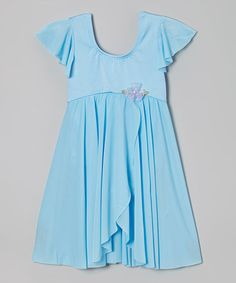 Love this Blue Angel-Sleeve Dress - Toddler & Girls by Curtain Call Costumes on #zulily! #zulilyfinds