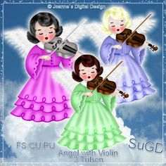 ScrapGrafikShop: CU/PU Angel with Violin