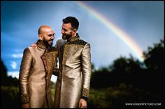 Good fortune smiled on us as we started the portraits - a well timed rainbow for this same sex wedding portrait! Wedding Portraits, Groomsmen, Documentaries, This Is Us, Wedding Photography, Rainbow, Couple Photos, Beautiful, Wedding Shot