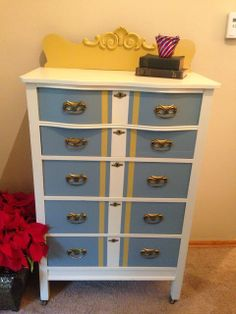 Wallpapered Dresser -A How To-  by Sophisticated Junk Pile