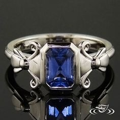 Radiant #sapphire in a custom #GreenLakeMade setting. #Ido #EngagementRing
