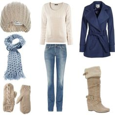 Winter, created by achristie on Polyvore (fashion)--need to find something white