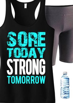 Sore Today STRONG Tomorrow #Workout #Tank -- By #NobullWomanApparel, for only $24.99! Click here to buy https://www.etsy.com/listing/192967691/sore-today-strong-tomorrow-workout-tank?ref=shop_home_active_5