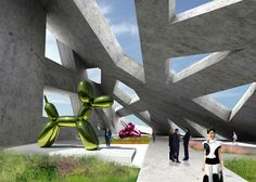 Rooftop exhibiiton space - Conceptual extension to Whitney Museum 5