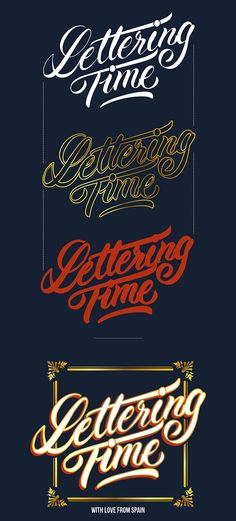 Lettering Time Blog / Sign Painting Version by Mauro Andrés, via Behance