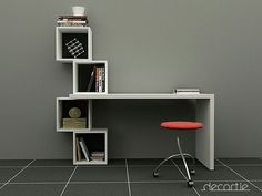 Modern Furniture Deals, Free Delivery From Furniture Deals, Wood Furniture, Furniture Design, Geometric Furniture, Modern Furniture, Wall Shelves, Shelving, Study Table Designs, Study Room Design