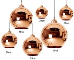 Tom Dixon Copper Mirror Ball 6 Size Ceiling Pendant Lamp Chandelier in Home, Furniture & DIY, Lighting, Ceiling Lights & Chandeliers | eBay